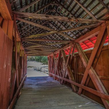 This is the only covered bridge in South Carolina.  Located in Landrum, South Carolina.