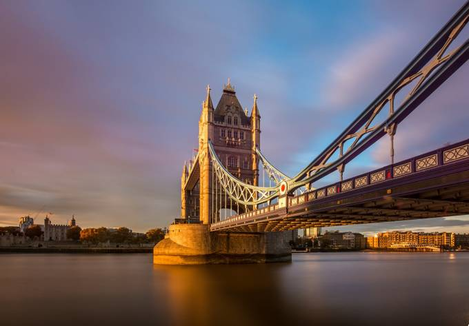 Tower Bridge in Pastel by geminatrix - Under The Bridge Photo Contest