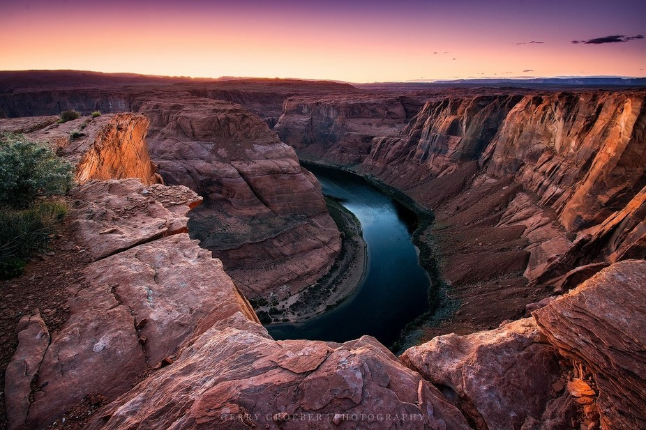 Years of the Colorado River carve out the canyon...Horseshoe Bend, Arizona