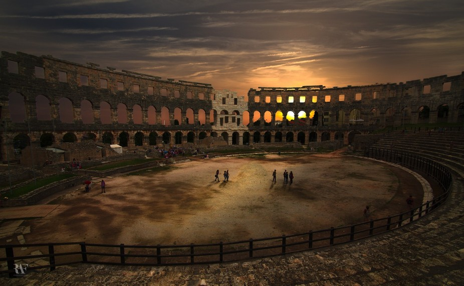 The Pula Arena is the name of the amphitheatre located in Pula, Croatia. The Arena is the only re...