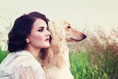 Flapper girl & her dog