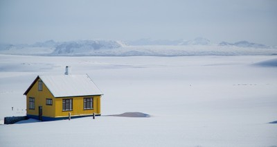 Iceland in the snow