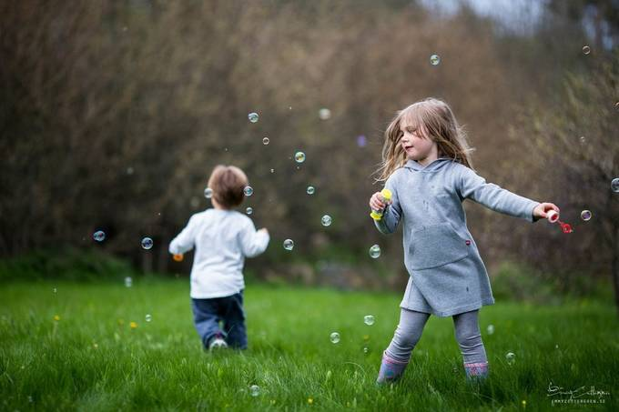 Playing with bubbles! by emmyzettergren - Bubbles Photo Contest