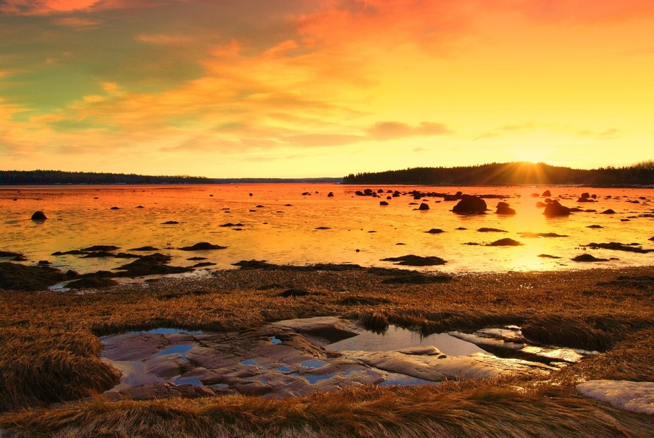Milbridge, maine early morning sunrise