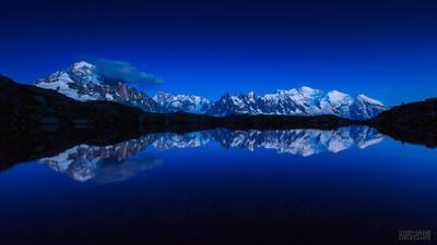 Blue Hour Chamonix Mont-Blanc