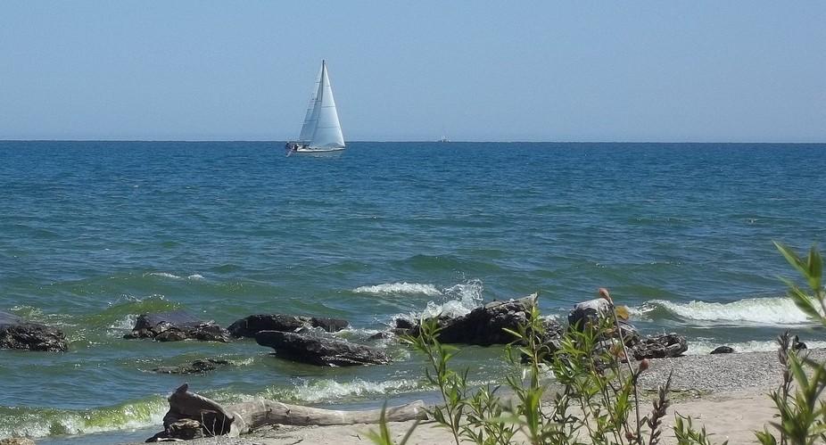 A beautiful day on Lake Michigan.