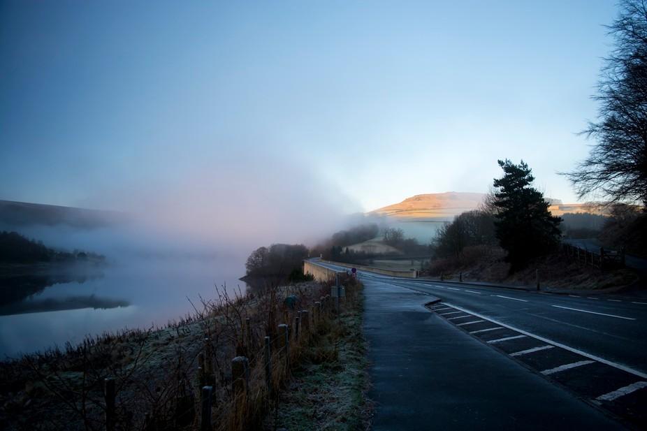 Sunrise Through Mist - Ladybower