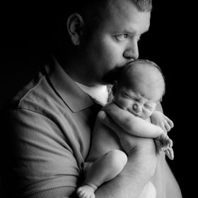 Nick and his newborn son Colton, taken a couple of weeks after birth.