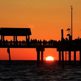 Sunset under Pier 60 @ Clearwater Beach, Florida