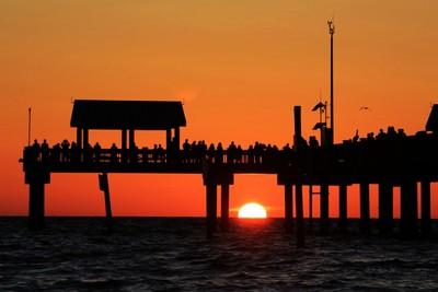 Sunset under Pier 60 @ Clearwater Beach, Florida