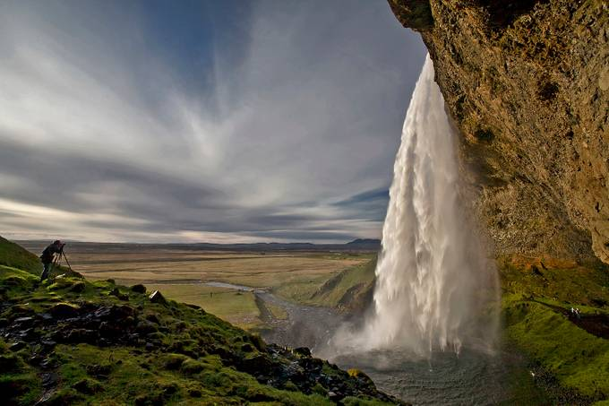 At the Waterfall  by Structor - People And Waterfalls Photo Contest