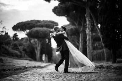 Wedding photographer in Rome, Italy.