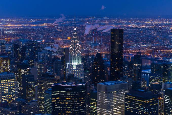 Chrysler building by night by timopetergrnlund - Color In The Night Photo Contest