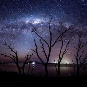 Milkyway panorama taken at Taylors Lake,Horsham,Victoria,Australia