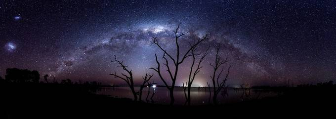 Milkyway Pano by Ozscapes - Tree Silhouettes Photo Contest