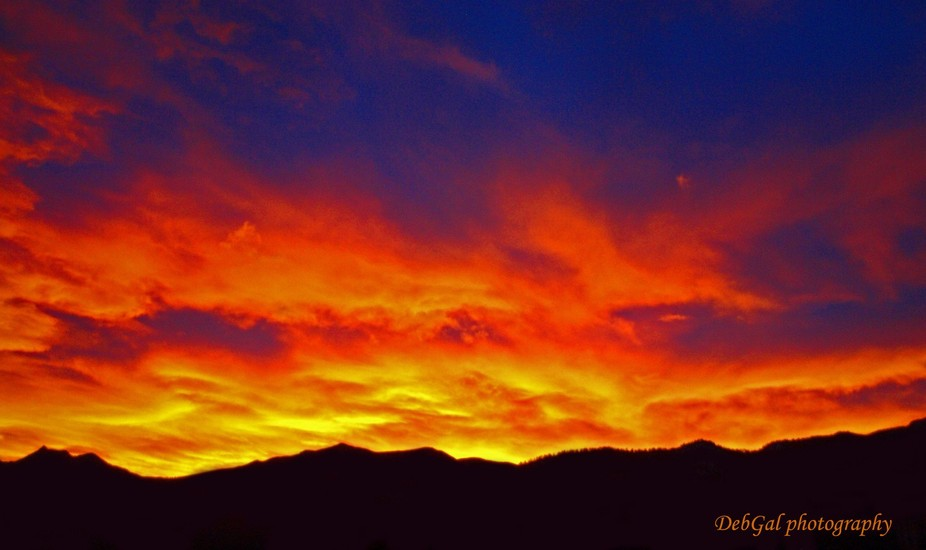 Sunset over Cheyenne Mountain, Colorado Springs, CO