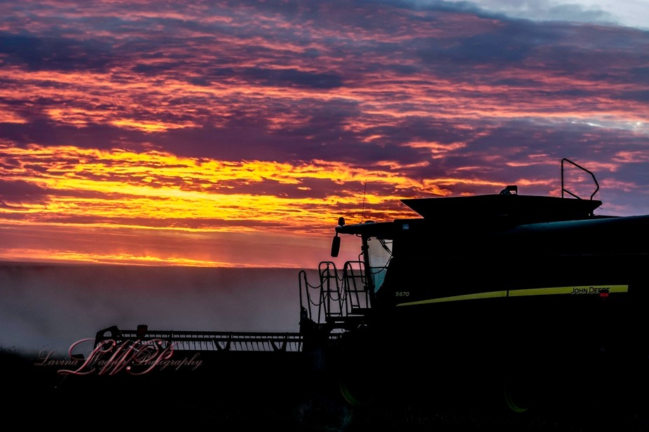 Small town Saskatchewan. Prairie Harvest is a huge deal. This was a shot I initially drove by, an...