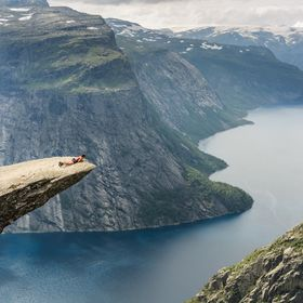 One of the most adrenaline filled places I've been to, Trolltunga Norway. After a small 4 hours hike up you can, if you have gathered enough cour...