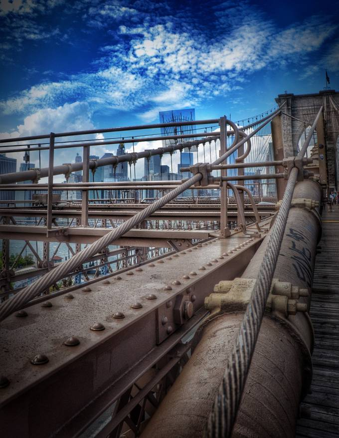 On the Bridge by reburndesign - Rails and Fences Photo Contest
