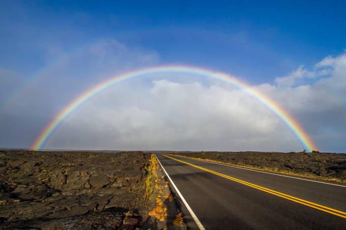 Chain of Crater Road Rainbow by ThibaultDoix - Rainbows Overhead Photo Contest