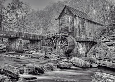 Glade Creek Mill (Black & White)