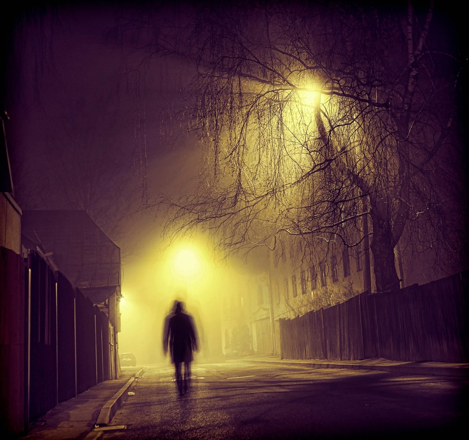 Walking in the night