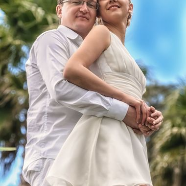 This young couple came to NZ from Lithuania and I had the privilege of photographing their wedding. No guests just them - wedding photographer's dream.