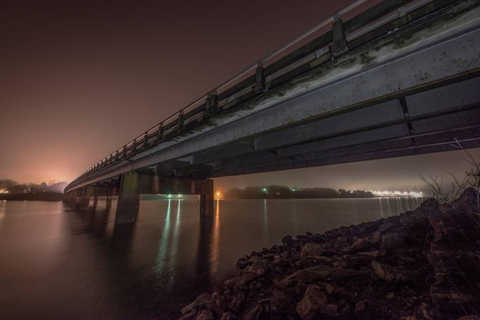 Bridge over Hartwell by callmejoejones - Under The Bridge Photo Contest