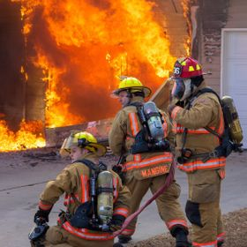 Taken during a house fire on Fort Riley, Kansas.