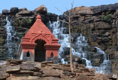 Temple & Waterfall