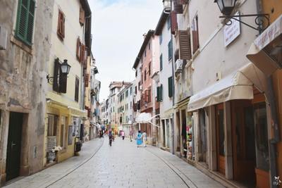 walking through the narrow streets
