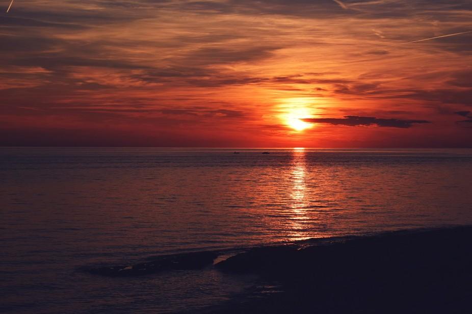 magical sunset in Rovinj
