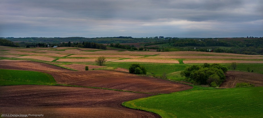 This is the landscape from the heartland of our country. Fields have been prepared for planting. ...