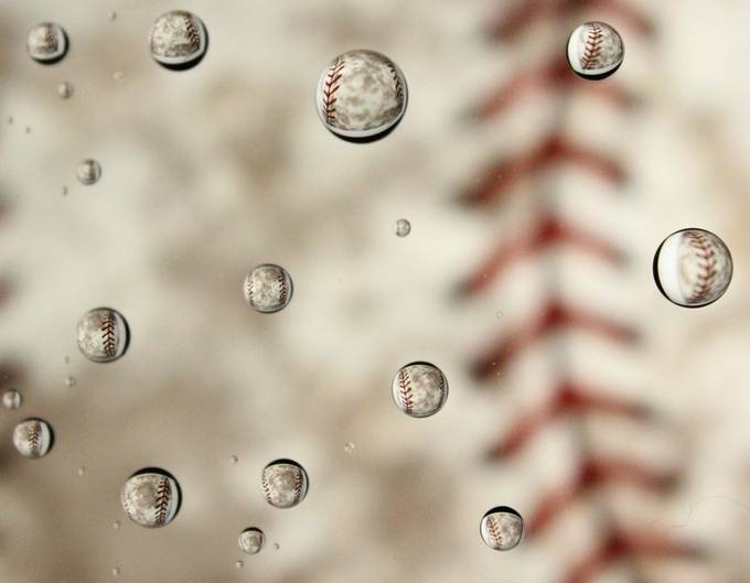 Drops of baseball by CassyRandleRN - Experimental Photography Project