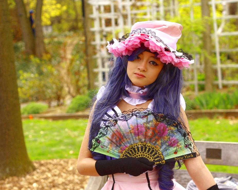 Model at the 2015 Sakura Festival at the Brooklyn Botanical Gardens