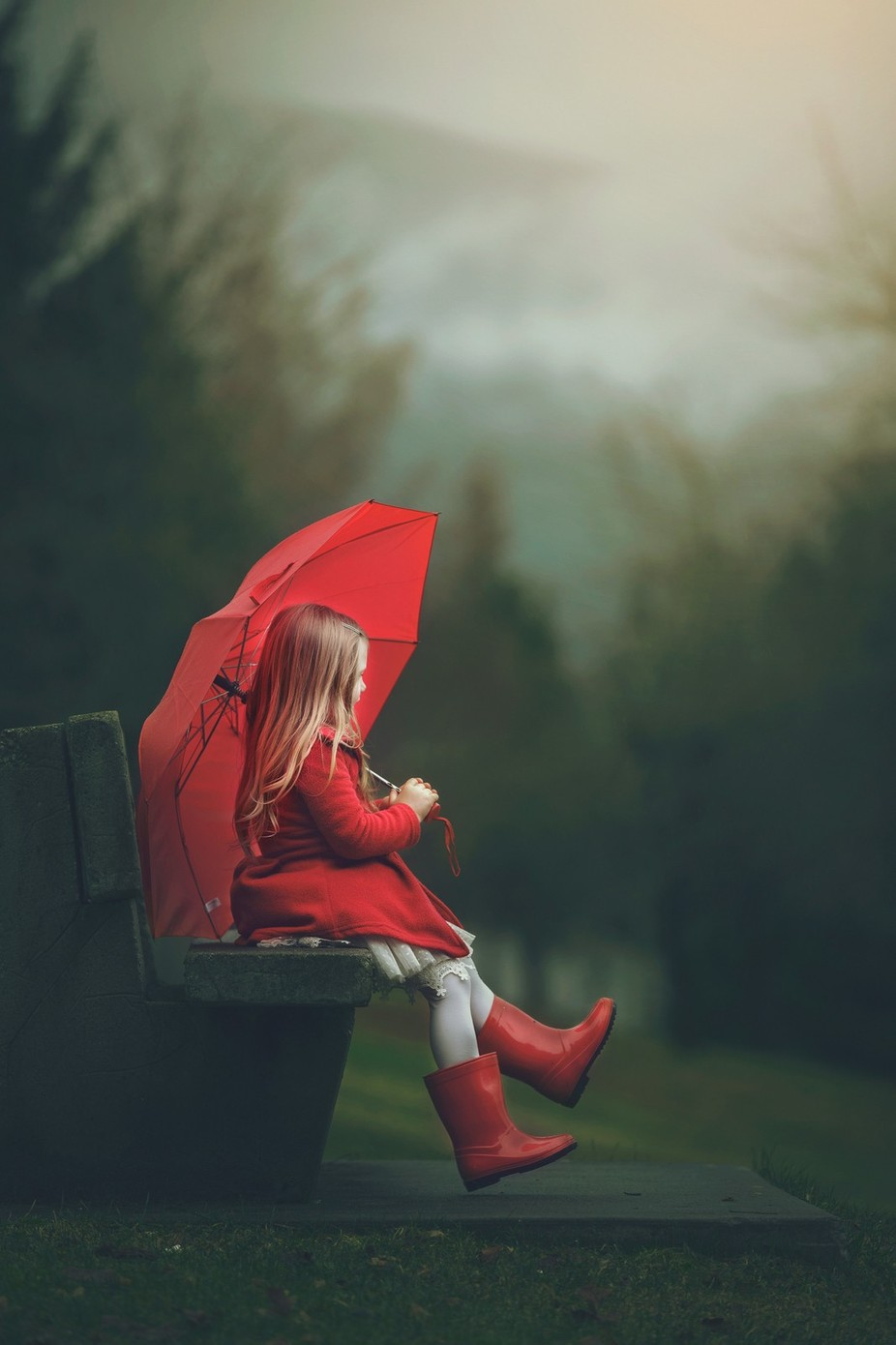 Red Umbrella by ashleycampbell_8229 - Anything People Photo Contest