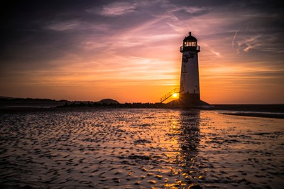 Lighthouse Purple Sky sunset new