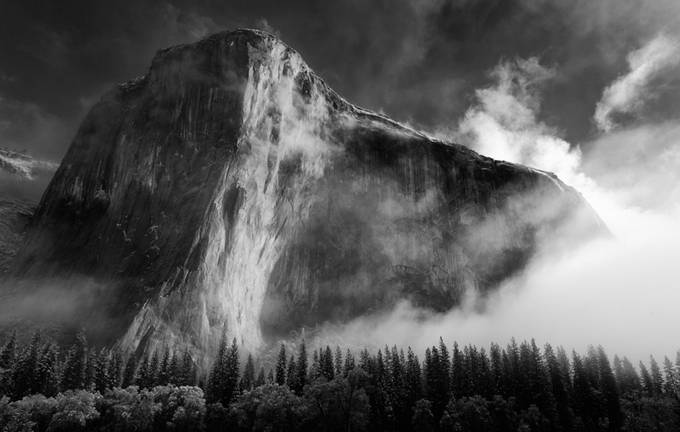 El Capitan by Pixelstate - Black And White Compositions Photo Contest