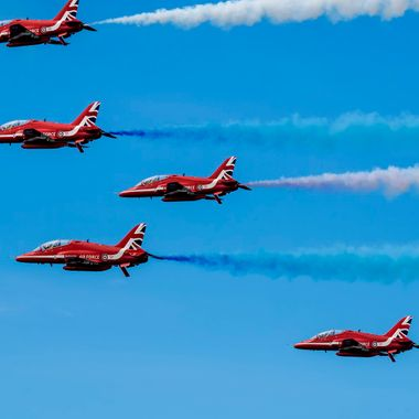 The Royal Air Force Red Arrows at Llandudno Airshow in May 2015. Precision airmanship. I went to a remote cliff top near Llandudno to get this flypast view... amazing pilots...