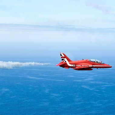 The Royal Air Force Red Arrows at Llandudno Airshow in May 2015. Precision airmanship. I went to a cliff top location for a view and was not disappointed. Amazing pilots ...