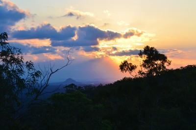 Sunset from Mt Tinbeerwah, Sunshine Coast, Queensland