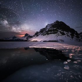 I managed to capture this photo on my last night, just before my batteries died up in the Canadian Rockies. I spent a great deal of the night tak...