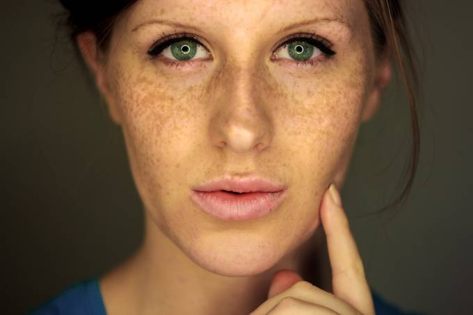 self portrait with diy ring light by skyelightphotography - Freckles Photo Contest