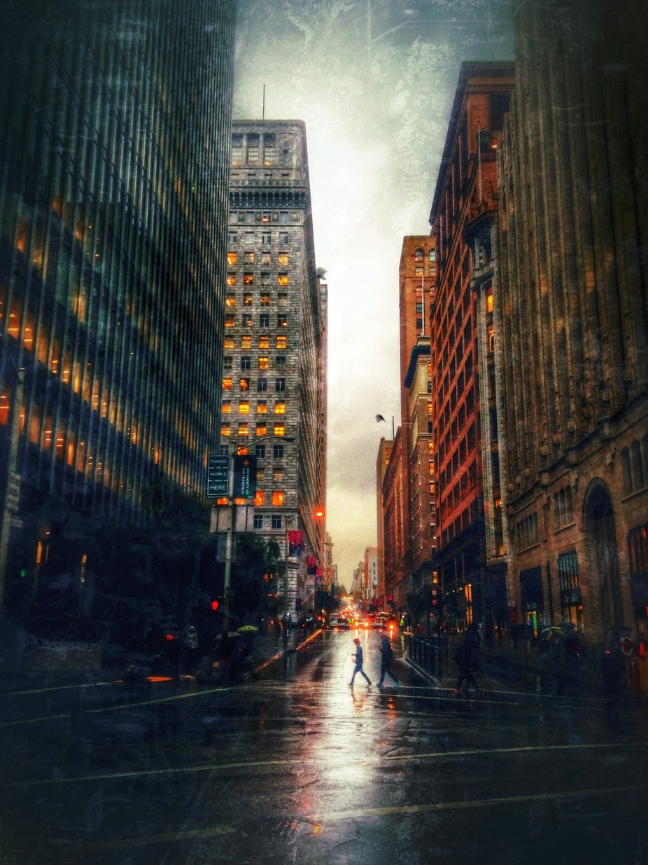 City in the Rain by Hollingsworth - Rain Photo Contest