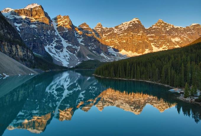 Lake Moraine sunrise by zquentin - Spectacular Lakes Photo Contest