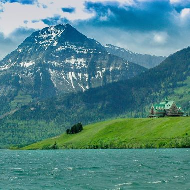 The Waterton Hotel on the Waterton Canada side of Glacier National Park.
