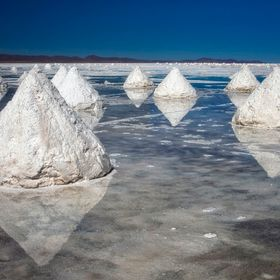The worlds largest salt flat in Bolivia