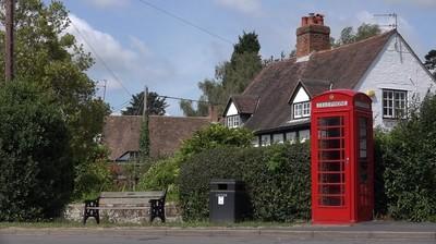 English village and phone box