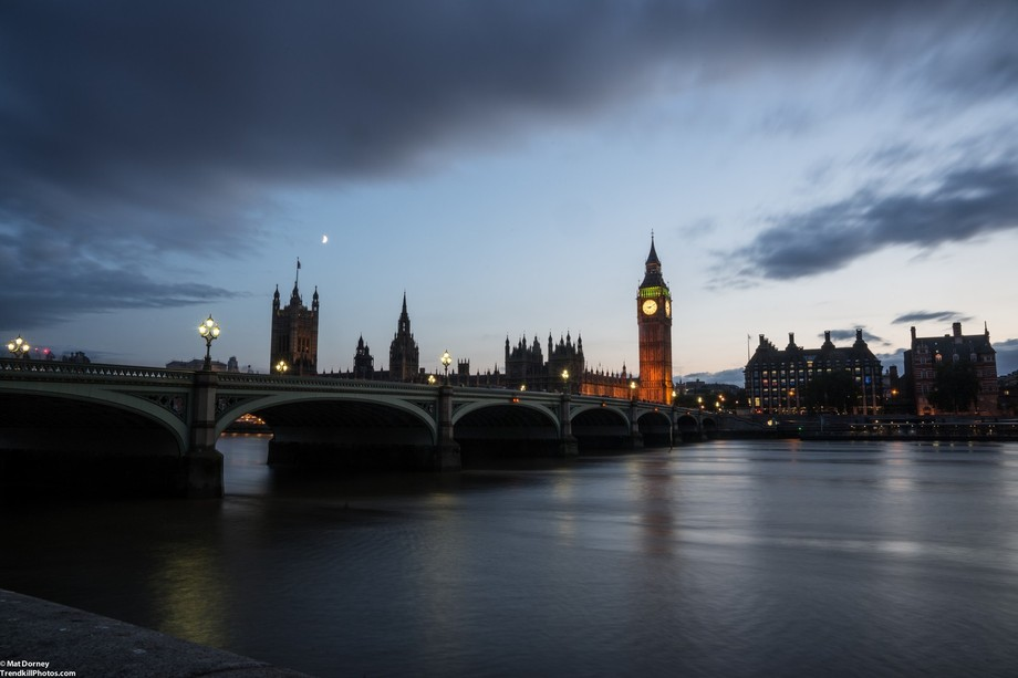 South Bank at Westminster Bridge by Mat Dorney