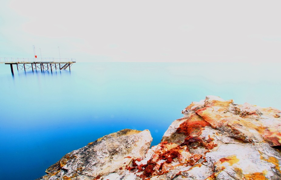 I was trying for an abstract shot of the Nightcliff Jetty in Darwin, Northern Territory.